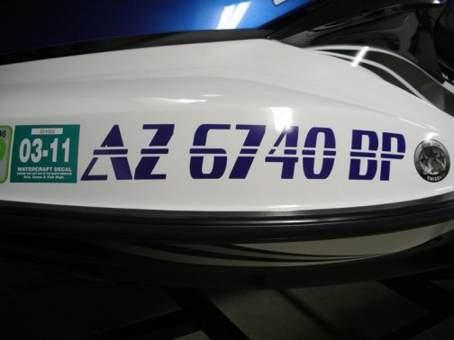 Silly Cactus  Custom Boat And Jet Ski Registration Numbers - Custom boat numbers